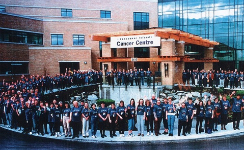 Vancouver Island Cancer Centre building and staff